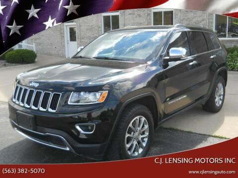 2015 Jeep Grand Cherokee for sale at C.J. Lensing Motors Inc in Decorah IA