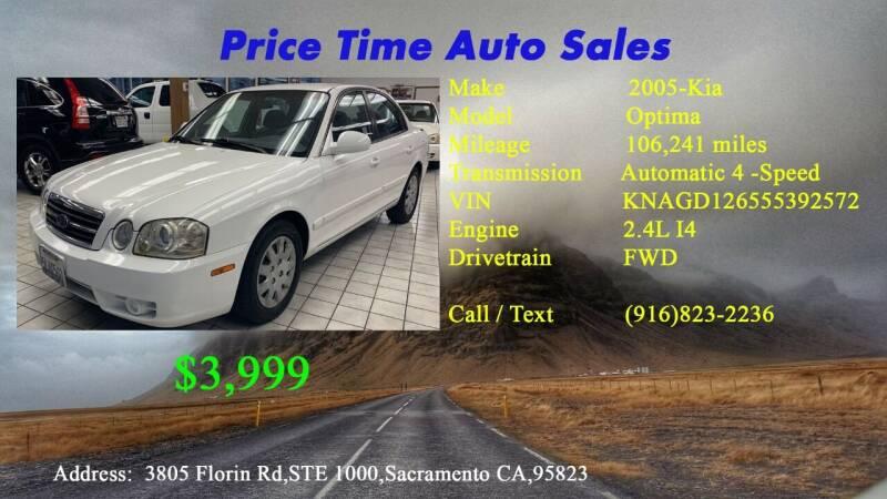 2005 Kia Optima for sale at PRICE TIME AUTO SALES in Sacramento CA