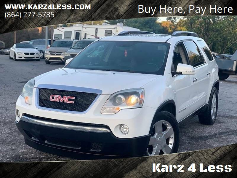 2008 GMC Acadia for sale at Karz 4 Less in Greenville SC