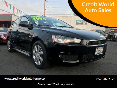 2014 Mitsubishi Lancer for sale at Credit World Auto Sales in Fresno CA