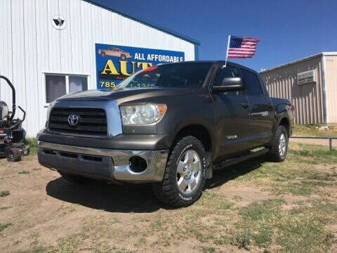 2009 Toyota Tundra for sale at All Affordable Autos in Oakley KS