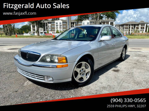 2000 Lincoln LS for sale at Fitzgerald Auto Sales in Jacksonville FL