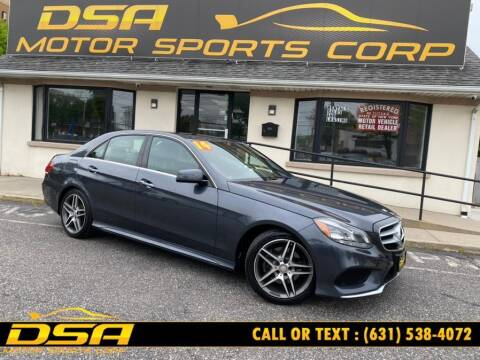 2014 Mercedes-Benz E-Class for sale at DSA Motor Sports Corp in Commack NY