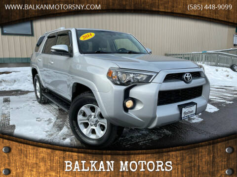 2014 Toyota 4Runner for sale at BALKAN MOTORS in East Rochester NY