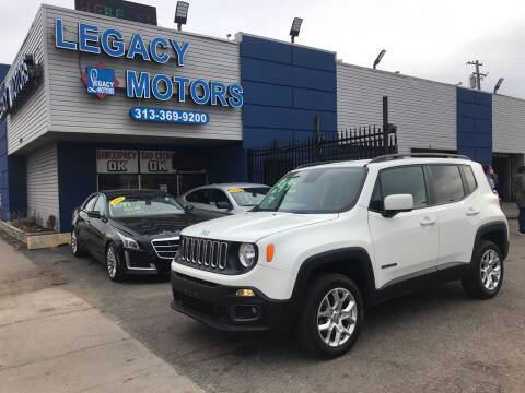 2017 Jeep Renegade for sale at Legacy Motors in Detroit MI