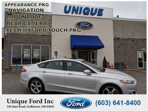 2013 Ford Fusion Hybrid for sale at Unique Motors of Chicopee - Unique Ford in Goffstown NH