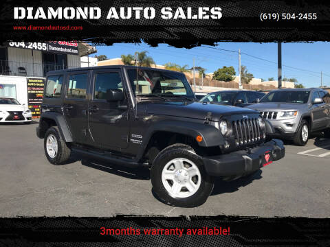 2017 Jeep Wrangler Unlimited for sale at DIAMOND AUTO SALES in El Cajon CA