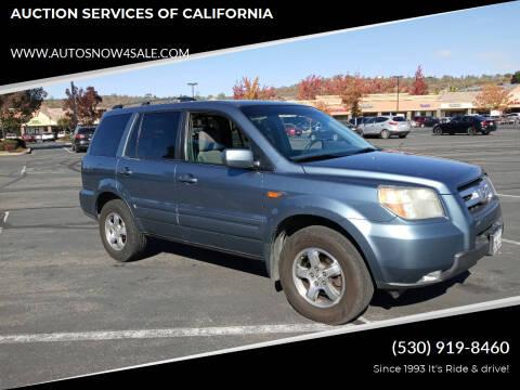 2007 Honda Pilot for sale at AUCTION SERVICES OF CALIFORNIA in El Dorado CA