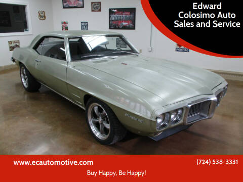 1969 Pontiac Firebird for sale at Edward Colosimo Auto Sales and Service in Evans City PA