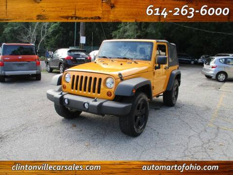 2012 Jeep Wrangler for sale at Clintonville Car Sales - AutoMart of Ohio in Columbus OH