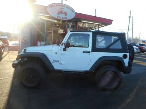 2013 Jeep Wrangler for sale at The Carriage Company in Lancaster OH