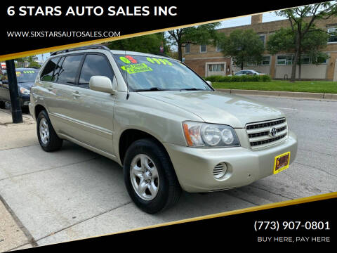 2003 Toyota Highlander for sale at 6 STARS AUTO SALES INC in Chicago IL