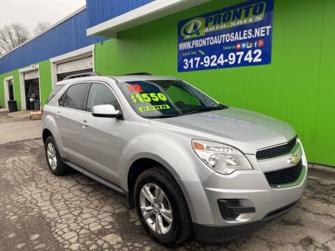 2012 Chevrolet Equinox for sale at PRONTO AUTO SALES INC in Indianapolis IN