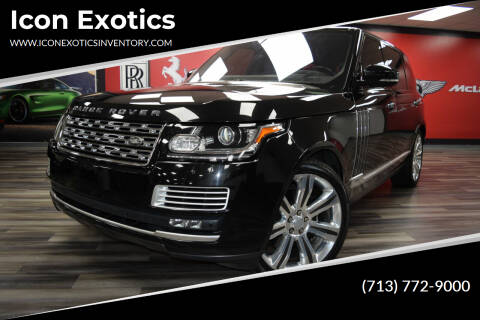 2016 Land Rover Range Rover for sale at Icon Exotics in Houston TX