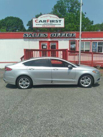 2018 Ford Fusion Hybrid for sale at CARFIRST ABERDEEN in Aberdeen MD