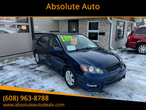 2008 Toyota Corolla for sale at Absolute Auto in Baraboo WI