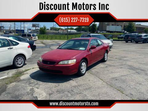 1999 Honda Accord for sale at Discount Motors Inc in Nashville TN