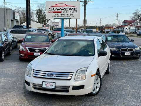 2009 Ford Fusion for sale at Supreme Auto Sales in Chesapeake VA