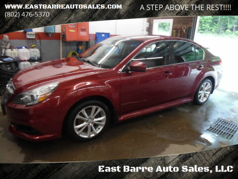 2013 Subaru Legacy for sale at East Barre Auto Sales, LLC in East Barre VT