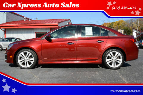 2015 Chevrolet Cruze for sale at Car Xpress Auto Sales in Pittsburgh PA