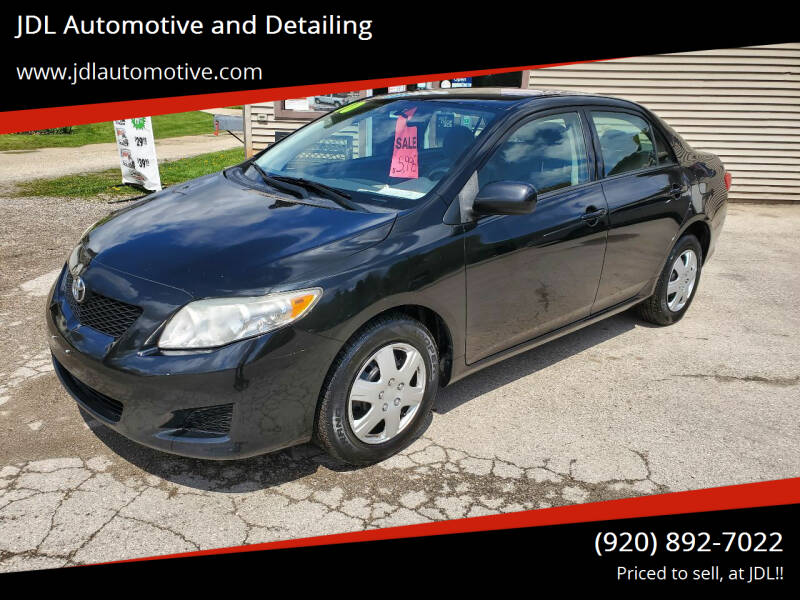 2010 Toyota Corolla for sale at JDL Automotive and Detailing in Plymouth WI