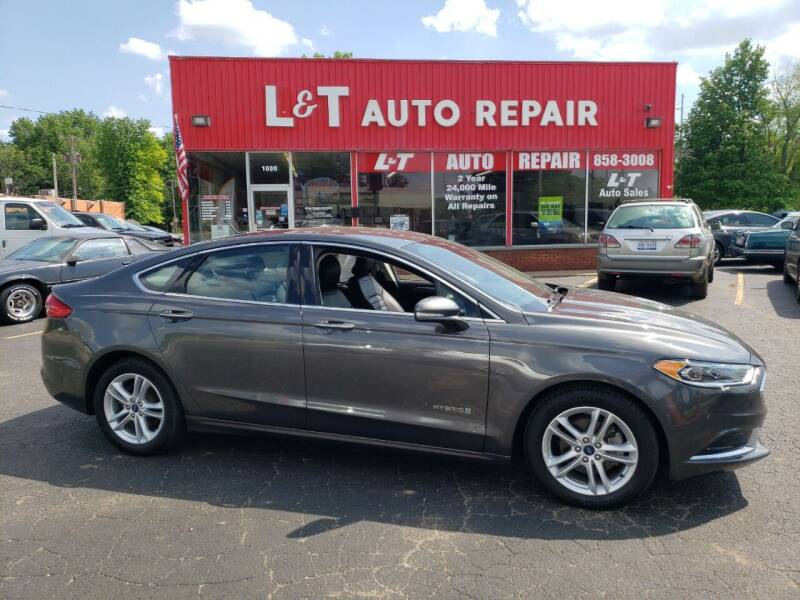 2018 Ford Fusion Hybrid for sale at L&T Auto Sales in Three Rivers MI