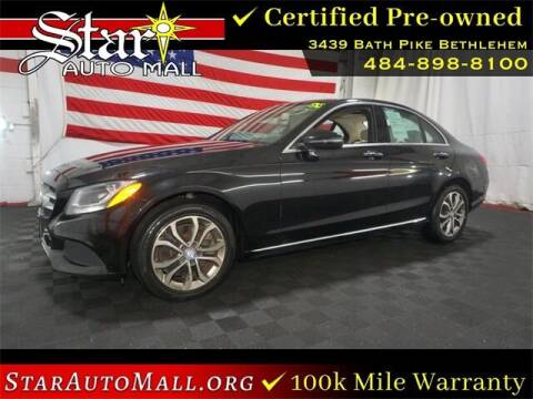 2016 Mercedes-Benz C-Class for sale at STAR AUTO MALL 512 in Bethlehem PA