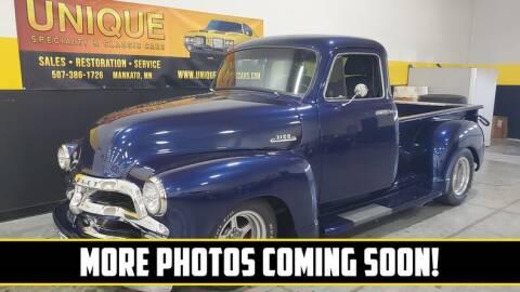 1954 Chevrolet 3100 for sale at UNIQUE SPECIALTY & CLASSICS in Mankato MN