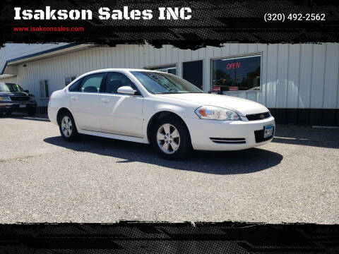 2009 Chevrolet Impala for sale at Isakson Sales INC in Waite Park MN