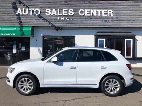 2015 Audi Q5 for sale at Auto Sales Center Inc in Holyoke MA