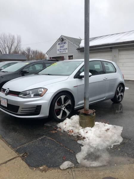 2015 Volkswagen Golf GTI for sale at MOTORS EAST in Cumberland RI