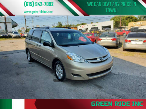 2010 Toyota Sienna for sale at Green Ride Inc in Nashville TN
