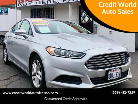 2015 Ford Fusion for sale at Credit World Auto Sales in Fresno CA