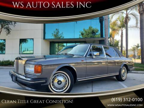 1990 Rolls-Royce Silver Spur for sale at WS AUTO SALES INC in El Cajon CA