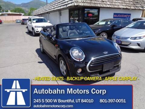 2019 MINI Convertible for sale at Autobahn Motors Corp in Bountiful UT