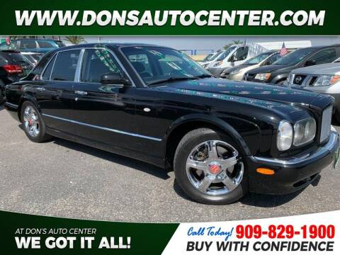 2001 Bentley Arnage for sale at Dons Auto Center in Fontana CA