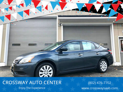 2014 Nissan Sentra for sale at CROSSWAY AUTO CENTER in East Barre VT