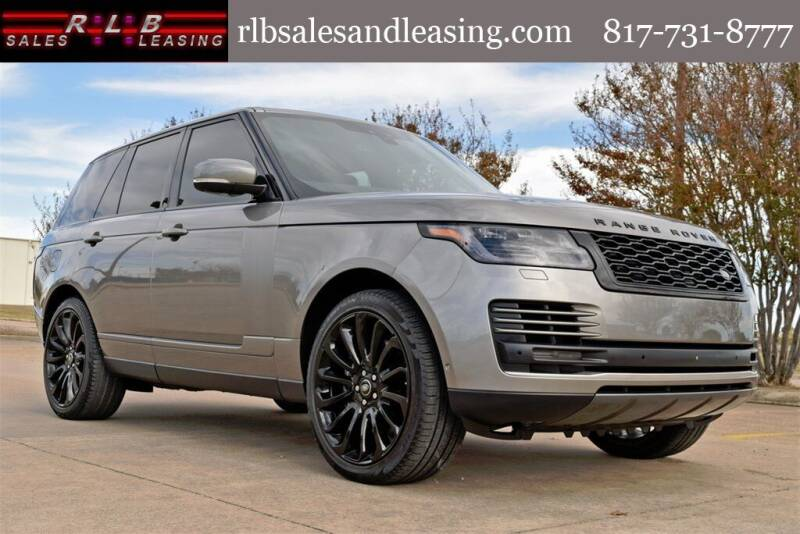 2019 Land Rover Range Rover for sale at RLB Sales and Leasing in Fort Worth TX