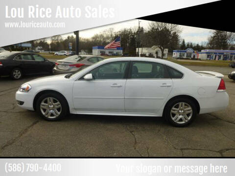 2011 Chevrolet Impala for sale at Lou Rice Auto Sales in Clinton Township MI