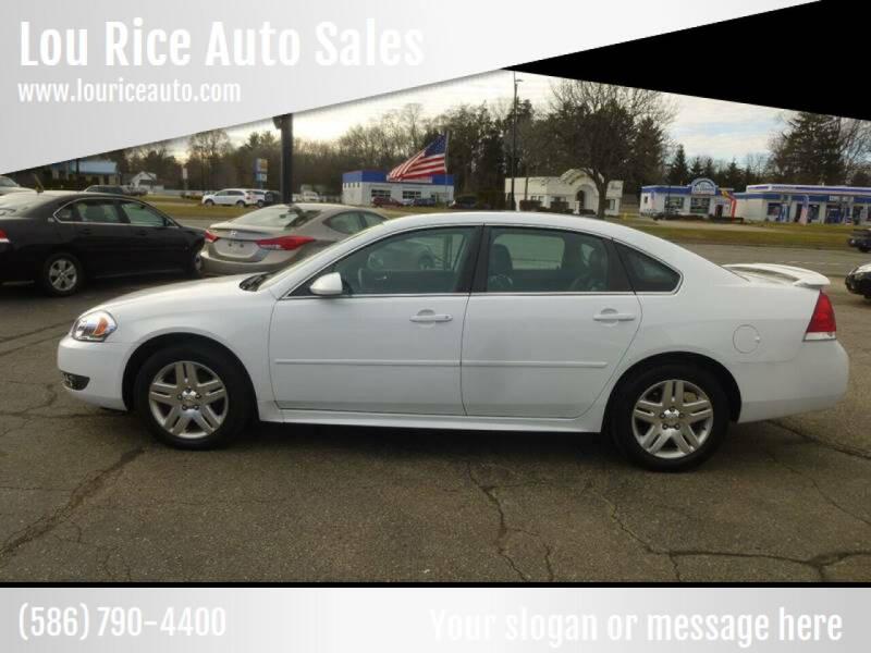 2011 Chevrolet Impala for sale at Lou Rice Auto Sales in Clinton Township MI
