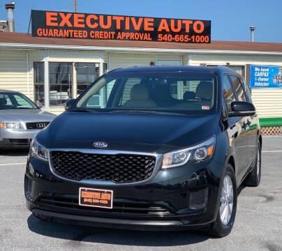 2016 Kia Sedona for sale at Executive Auto in Winchester VA