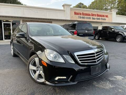 2011 Mercedes-Benz E-Class for sale at North Georgia Auto Brokers in Snellville GA