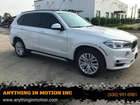 2015 BMW X5 for sale at ANYTHING IN MOTION INC in Bolingbrook IL