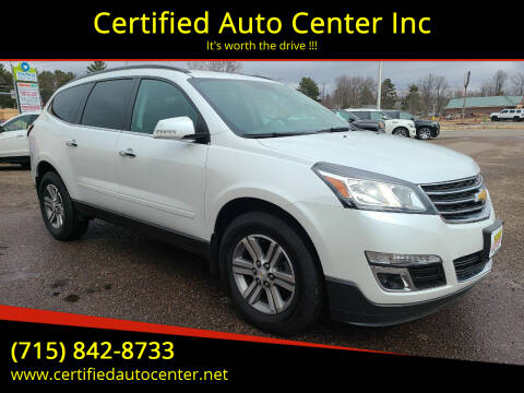 2017 Chevrolet Traverse for sale at Certified Auto Center Inc in Wausau WI