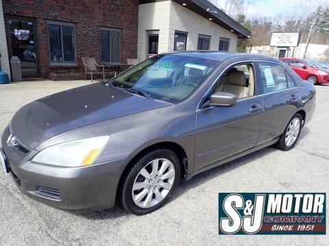 2007 Honda Accord for sale at S & J Motor Co Inc. in Merrimack NH