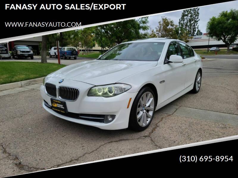 2011 BMW 5 Series for sale at FANASY AUTO SALES/EXPORT in Yorba Linda CA