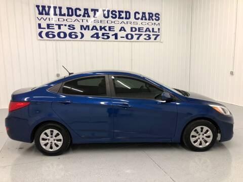 2016 Hyundai Accent for sale at Wildcat Used Cars in Somerset KY