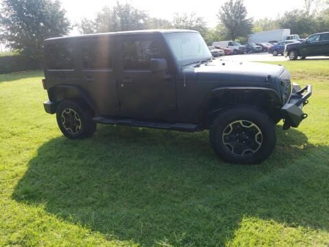 2014 Jeep Wrangler Unlimited for sale at El Jasho Motors in Grand Prairie TX