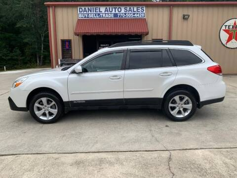 2013 Subaru Outback for sale at Daniel Used Auto Sales in Dallas GA