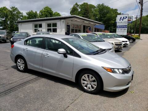 2012 Honda Civic for sale at Highlands Auto Gallery in Braintree MA